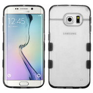 Co-Molded Impact Absorbing Case for Samsung Galaxy S6 Edge - Clear Black