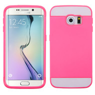 Credit Card Hybrid Case for Samsung Galaxy S6 Edge - Hot Pink