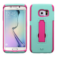 Explorer Impact Armor Kickstand Case for Samsung Galaxy S6 Edge - Baby Blue Hot Pink