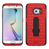 Impact Armor Spot Diamond Case for Samsung Galaxy S6 Edge - Black Red
