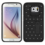 Luxurious Elite Dazzling Diamond Hybrid Case for Samsung Galaxy S6 - Black