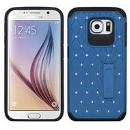 Luxurious Elite Dazzling Diamond Hybrid Case for Samsung Galaxy S6 - Blue