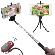 Selfie Stick Wireless Remote Control Shutter Bundle Kit - Black Red