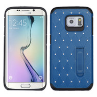 Luxurious Elite Dazzling Diamond Hybrid Case for Samsung Galaxy S6 Edge - Blue