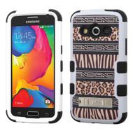 *Sale* Military Grade TUFF Image Hybrid Kickstand Case for Samsung Galaxy Avant - Leopard Zebra