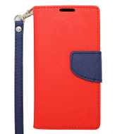 Leather Wallet Shell Case for Samsung Galaxy Avant - Red