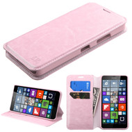 *SALE* Book-Style Leather Folio Case for Microsoft Lumia 640 - Pink