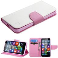 Diary Leather Wallet Case for Microsoft Lumia 640 - White