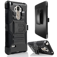Advanced Armor Hybrid Kickstand Case with Holster for LG G Stylo / Vista 2 - Black