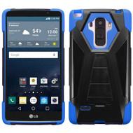 Triangle Multi-Layer Hybrid Kickstand Case for LG G Stylo / Vista 2 - Black Blue