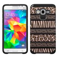 Hybrid Multi-Layer Armor Case for Samsung Galaxy Grand Prime - Leopard Zebra