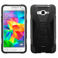 Triangle Multi-Layer Hybrid Kickstand Case for Samsung Galaxy Grand Prime - Black