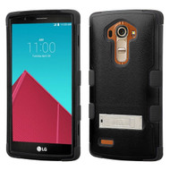 Military Grade TUFF Hybrid Kickstand Case for LG G4 - Black