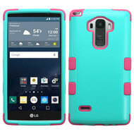 Military Grade Certified TUFF Hybrid Case for LG G Stylo / Vista 2 - Teal Hot Pink