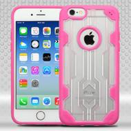Challenger Transparent Hybrid Case for iPhone 6 / 6S - Hot Pink