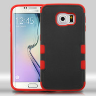 Military Grade Certified TUFF Merge Hybrid Case for Samsung Galaxy S6 Edge - Black Red
