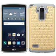 TotalDefense Diamond Hybrid Case for LG G Stylo - Gold Grey