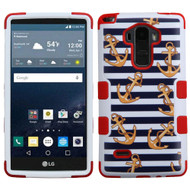 Military Grade Certified TUFF Image Hybrid Case for LG G Stylo - Nautical Stripes