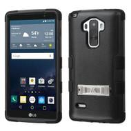 Military Grade Certified TUFF Hybrid Kickstand Case for LG G Stylo / Vista 2 - Black