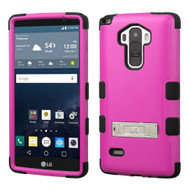 Military Grade Certified TUFF Hybrid Kickstand Case for LG G Stylo / Vista 2 - Hot Pink