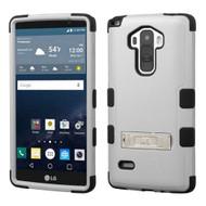 Military Grade Certified TUFF Hybrid Kickstand Case for LG G Stylo / Vista 2 - Grey
