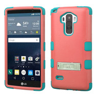 Military Grade Certified TUFF Hybrid Kickstand Case for LG G Stylo / Vista 2 - Pink Teal