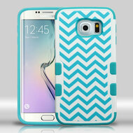 Military Grade Certified TUFF Merge Graphic Hybrid Case for Samsung Galaxy S6 Edge - Blue Wave
