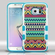 Military Grade Certified TUFF Merge Graphic Hybrid Case for Samsung Galaxy S6 Edge - Tribal Sun