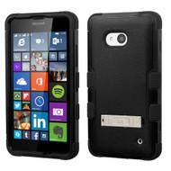 Military Grade Certified TUFF Hybrid Kickstand Case for Microsoft Lumia 640 - Black
