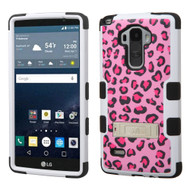 Military Grade Certified TUFF Image Hybrid Kickstand Case for LG G Stylo - Leopard Pink