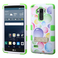 Military Grade Certified TUFF Image Hybrid Kickstand Case for LG G Stylo / Vista 2 - Rainbow Bubbles
