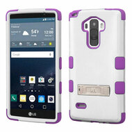 Military Grade Certified TUFF Hybrid Kickstand Case for LG G Stylo / Vista 2 - White Purple