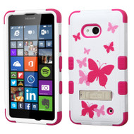 Military Grade Certified TUFF Image Hybrid Kickstand Case for Microsoft Lumia 640 - Butterfly Dancing