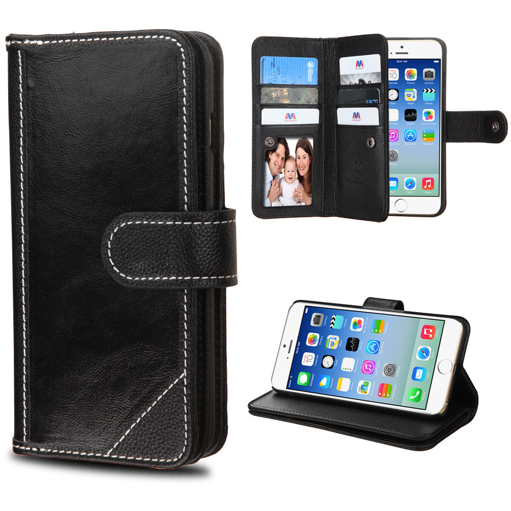 wallet iphone 5 case mybat d genuine leather wallet for iphone 1280