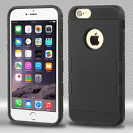 Military Grade Certified TUFF Trooper Dual Layer Hybrid Case for iPhone 6 Plus / 6S Plus - Black