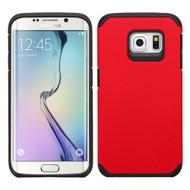 Hybrid Multi-Layer Armor Case for Samsung Galaxy S6 Edge Plus - Red
