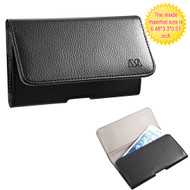 *SALE* Leather Folio Horizontal Pouch Case - Black