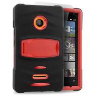 *Sale* Maximum Armor Hybrid Case for Microsoft Lumia 435 - Black Red