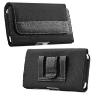 *SALE* Leather Nylon Magnetic Holster Protective Pouch Case - Black