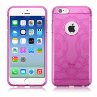 ECHO Premium Transparent Cushion Case for iPhone 6 / 6S - Hot Pink