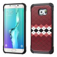 Tough Anti-Shock Hybrid Case for Samsung Galaxy S6 Edge Plus - Modern Argyle