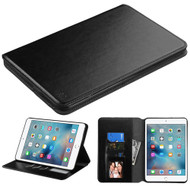 Book-Style Leather Folio Case for iPad Mini 4 - Black