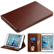 Book-Style Leather Folio Case for iPad Mini 4 - Brown