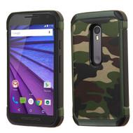 Tough Anti-Shock Hybrid Case for Motorola Moto G 3rd Generation - Camouflage