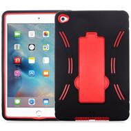 Explorer Impact Hybrid Armor Kickstand Case for iPad Mini 4 - Black Red