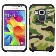 Hybrid Multi-Layer Armor Case for Samsung Galaxy Core Prime / Prevail LTE - Camouflage Green