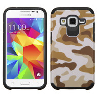 *SALE* Hybrid Multi-Layer Armor Case for Samsung Galaxy Core Prime / Prevail LTE - Camouflage Brown