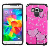 Hybrid Multi-Layer Armor Case for Samsung Galaxy Grand Prime - Glittering Butterfly