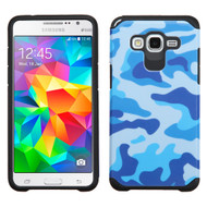 Hybrid Multi-Layer Armor Case for Samsung Galaxy Grand Prime - Camouflage Blue