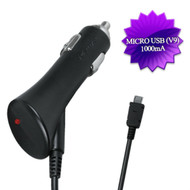 1000mA High Performance Micro USB Car Charger - Black